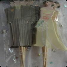 wedding cupcake toppers bride groom decoration picks finger food bridal shower
