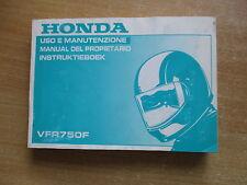 Manuel du conducteur instruktieboek HONDA VFR 750 F rc36-nell' anno modello 1996