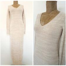 Victorias Secret Sweater Dress Size Medium V Neck Bandage Beige Bodycon Cotton