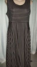 Polyester Unbranded Machine Washable Striped Dresses for Women