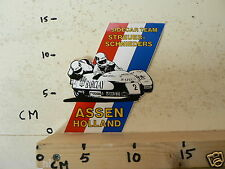 STICKER,DECAL DUTCH TT ASSEN HOLLAND SIDECAR TEAM STREUER SCHNIEDERS BARCLAY MOT