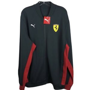 Puma Scuderia Ferrari Bomber Track Jacket Red Gray NWT - Men's XL