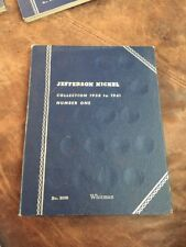 WHITMAN # 9009 JEFFERSON NICKEL 1938-1961 #1 3-PAGES HOLDER , FOLDER