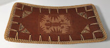 "Serving Platter brown w/Tan  13"" x 61/2 Ceramic -Miguel's Import SEE Photos New"