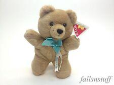 "It's A Boy Plush Teddy Bear Blue Brown Lovey Baby Shower Gift VTG 80s TAG 10"""