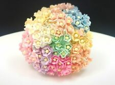 100 Tiny Mixed Pastel color double layers paper daisies mulberry paper flower