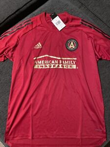 Atlanta United FC Adidas Mens 2020 On-Field Training Jersey - Red Size Large