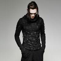 Punk Rave Darknet Men's Slash Hooded Top - Gothic,Goth
