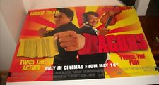 ROLLED TWIN DRAGONS UK MOVIE POSTER 30 x 40 2 SIDED JACKIE CHAN ACTION COMEDY