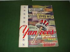 VINTAGE 1950 NEW YORK YANKEES SKETCH BOOK-JOE DIMAGGIO, YOGI BERRA, NICE PROGRAM