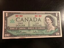 1967 CANADIAN 1 DOLLAR BILL CRISP AND CLEAN UNC 1867 1967