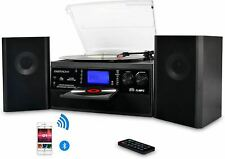 DIGITNOW Bluetooth Record Player Turntable with Stereo Speaker