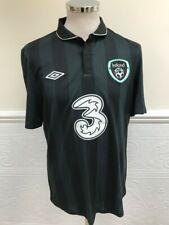 UMBRO IRELAND AWAY 2012-2013 BLACK FOOTBALL SHIRT JERSEY IRISH EIRE SIZE 40 M