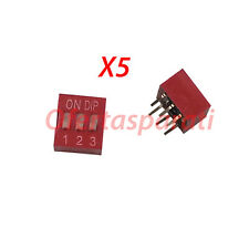 5x INTERRUPTOR DIP 3 VIAS PCB mini microinterruptor posiciones polos circuito