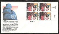 United Nations / Geneva SC # 175 Peace Keeping Force FDC. Inscription BLK4