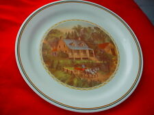 CORELLE CORNING HAY WAGON & CABIN DINNER PLATE VHTF FREE USA SHIPPING