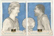 Larry Bird / Magic Johnson 2013 Super Box Sketch Cards #d 1/1 - CELTICS / LAKERS