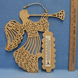 Guardian Angel Wood Cutout Thermometer