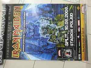 IRON MAIDEN CONCERT SPLIT CROATIA POSTER NO FOLDED MODEL 2