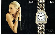 PUBLICITE ADVERTISING 126  2015  montre Ralph Lauren (2p)  Stirrup petite link
