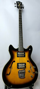 DeArmond Guild Starfire Bass Electric Guitar Sunburst  Rosewood  Nice Rare