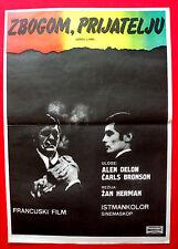 FAREWELL FRIEND '68 CHARLES BRONSON ALAIN DELON BRIGITTE FOSEY EXYU MOVIE POSTER