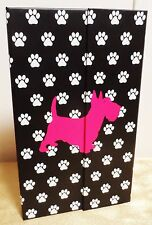 Juicy Couture PINK Black White Scottie Notepad Notebook Organizer with Post-Its
