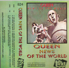 """K 7 AUDIO (TAPE)  QUEEN  """"NEWS OF THE WORLD""""  (MADE IN POLAND)"""