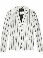 Scotch and Soda Ladies White & Navy Stripe Classic Summer Blazer UK 8 / Size 1