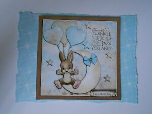 """PK 2 TWINKLE LITTLE STAR A STAR IS BORN *A NEW BABY BOY"""" TOPPERS FOR CARDS"""