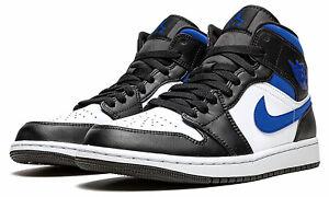 Air Jordan 1 Mid 'Game Royal' White/Black/Racer Blue 554724-140 Size 7-12 NWT