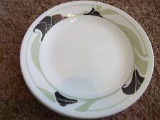 "7 Corelle Black Orchid Dessert/Bread & Butter Plates 6 3/4"" White Black Green"
