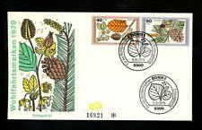 Postal History Germany Fdc #B565-B568 Set Of 2 Woodland plants 1979