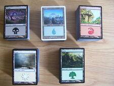 NEW MtG Magic 500 Basic Land Cards 100 each Island Plains Swamp Mountain Forest