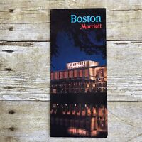 Vintage Hotel Brochure Marriott Boston Massachusetts MA Travel Advertising