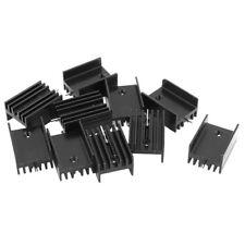 10 * disipador de calor de aluminio negro para transistores Mosfet TO-220 Y8A8
