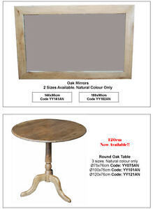 New Oak Round Dining Table  or Wine Table or DIsplay table- 100cm round