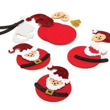 Vendita! 6 Babbo Natale Glitter Decorazioni Natalizie In Schiuma Per Bambini Natale Adesivi carte Crafts