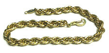 """14kt Gold Plated 7 1/2"""" Rope Chain Bracelet"""