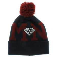 Diamond Supply Co Pom Beanie in Navy / Burgundy New