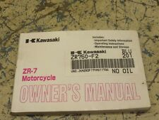 KAWASAKI ZR-7 ZR750 F2 OWNER MANUAL