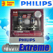 NEW MODEL PHILIPS +130% H4 XTREME VISION PLUS PAIR OF GLOBES 12V 60/55W UPGRADE