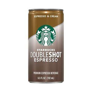 Starbucks Doubleshot, Espresso + Cream, 6.5 Ounce, 12 Pack Espresso & Cream