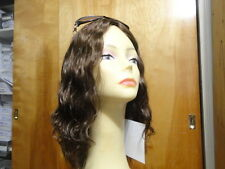 Malky European Multidirectional Human Sheitel Curly Wig Medium Brown  10-6-8