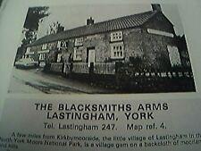 book item - 1970s - 1 page - the blacksmiths arms lastingham york