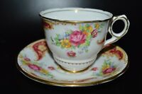 "Royal Stafford ENGLAND BONE CHINA TEA CUP & SAUCER RED ROSE ""GLORIA"" VINTAGE"