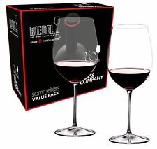 Riedel Sommeliers Bordeaux Grand Cru 2 Piece Wine Glass Value Set 2440/00 NEW