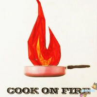 Cook on Fire Stage Magic Tricks Fire Magic Show,Fun,Illusions,Gimmick,Magician
