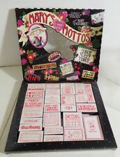 Mary's Mottos Engelbreit Rubber Stamp Set 23 Stamps Bloom Planted Chair Bowlies