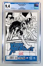 YOUNG AVENGERS #1~5/13~HTF 2nd Print~Sketch Variant~America Chavez~NM~CGC 9.4 WP